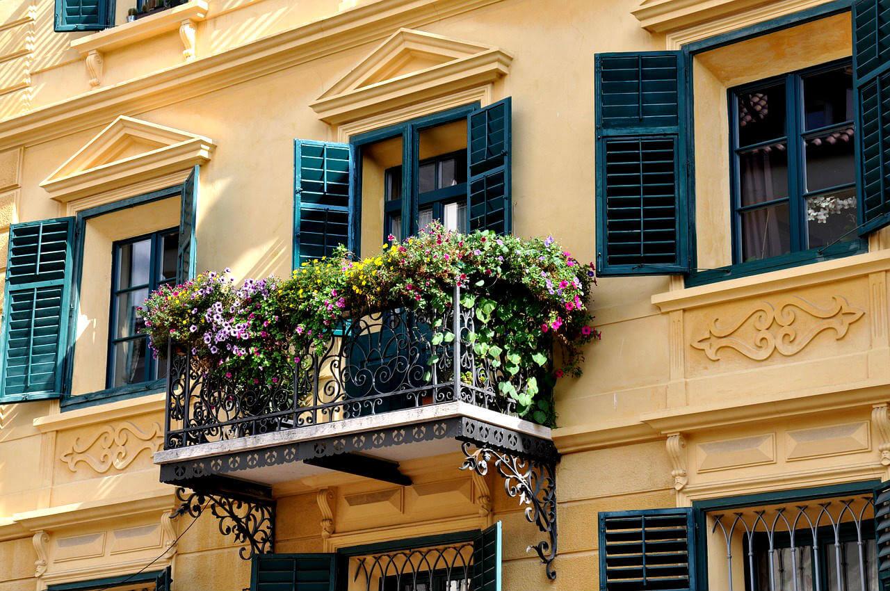 Le balcon en automne
