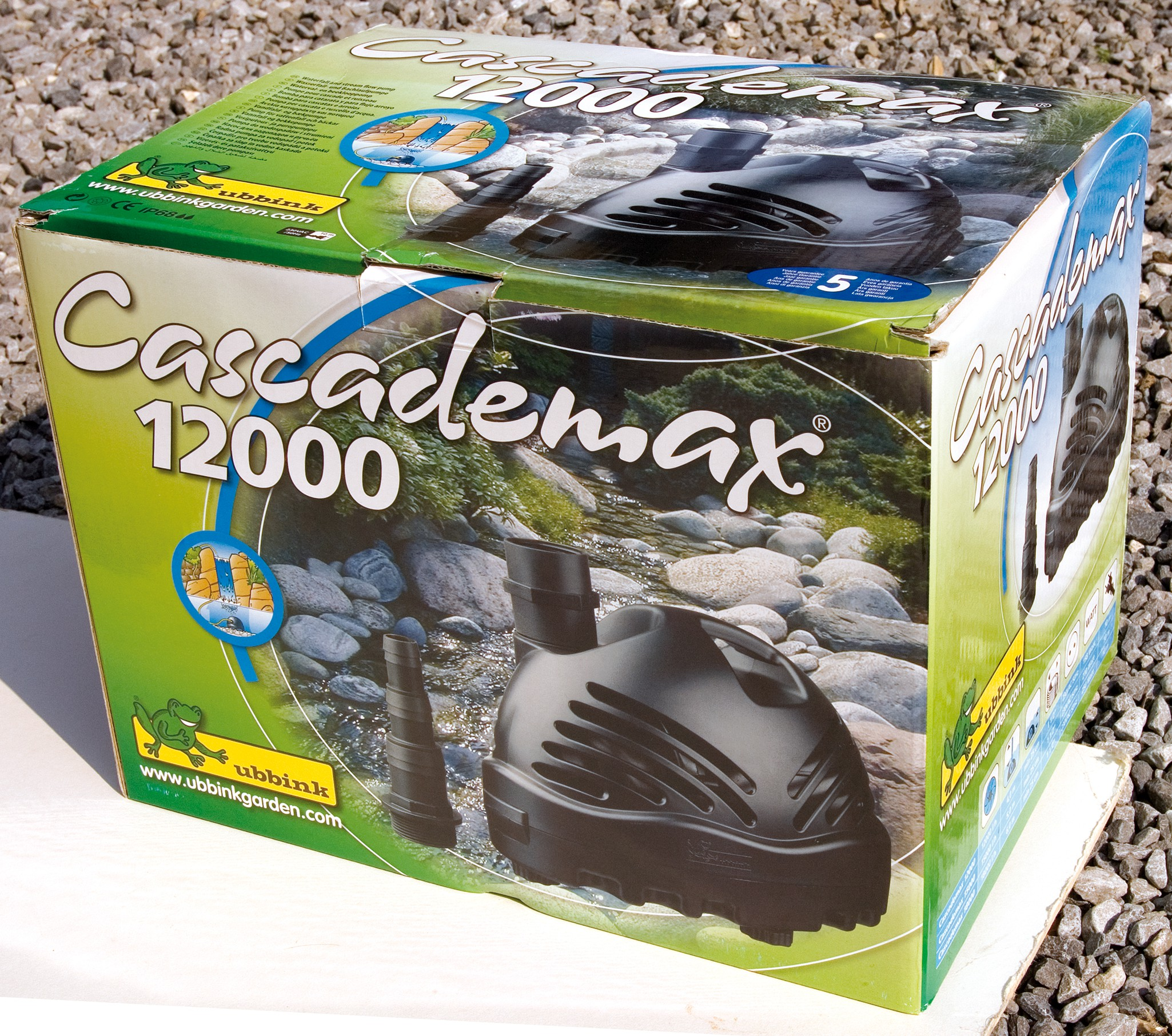 Pompe pour cascade ubbink cascademax 15000 jardinet for Pompe de cascade pour bassin