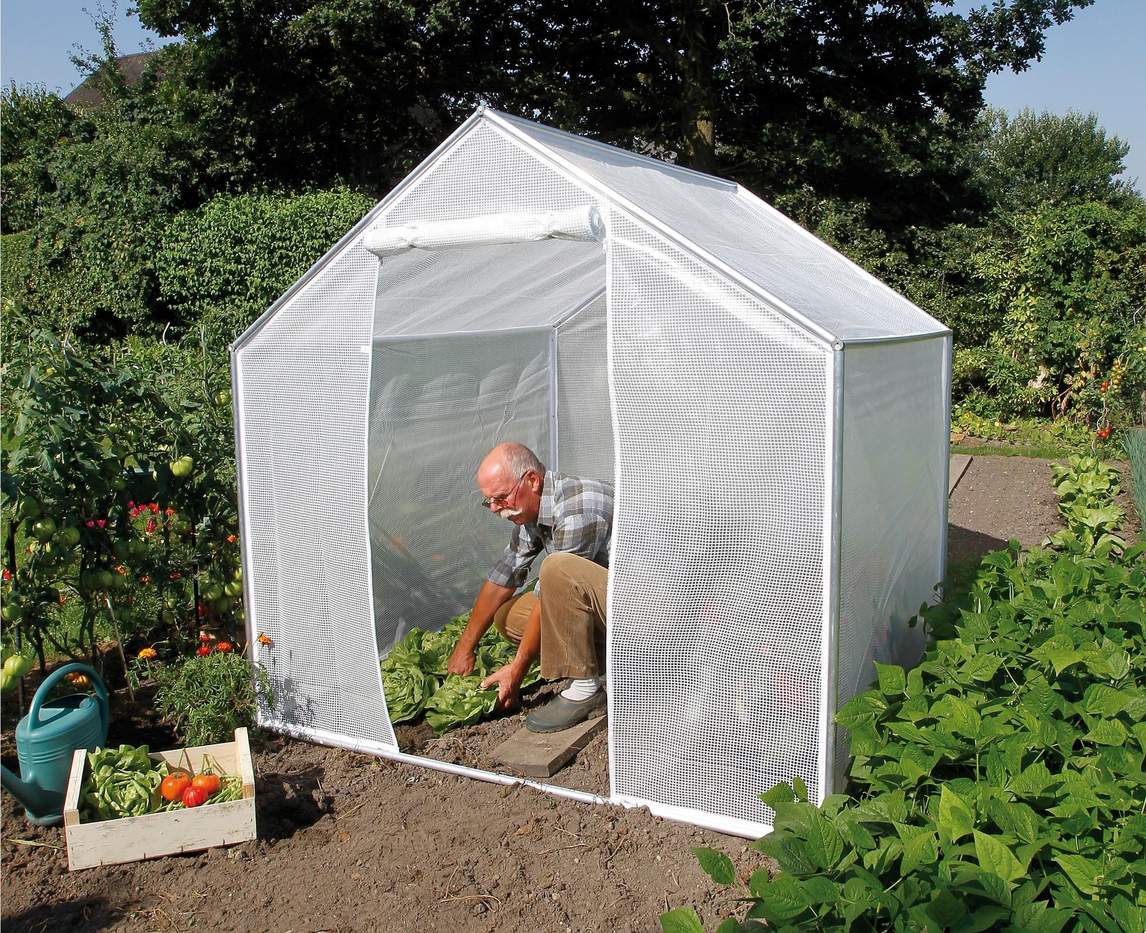 Serre abri de jardin 4m for age et protection jardinet - Protection toit abri de jardin ...