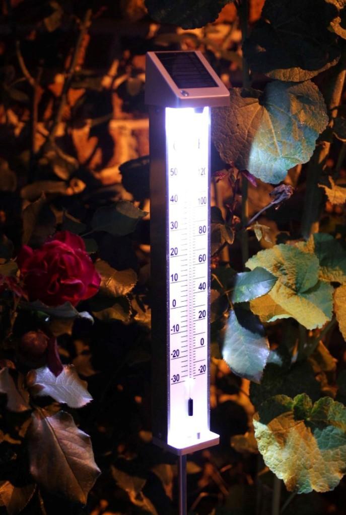 Thermom tre de jardin led solaire jardinet for Abri solaire mural