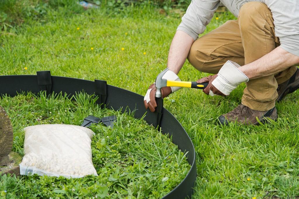 Bordures de jardin flexibles jardinet - Bordure jardin pvc ...