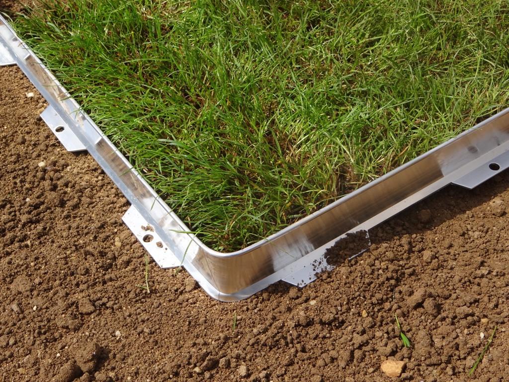 Bordure de coffrage en aluminium - Bordure de jardin - Jardinet