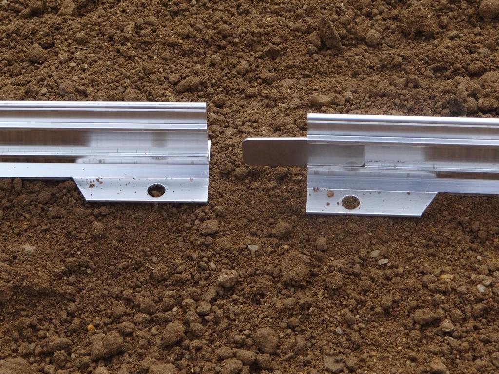 Bordure de coffrage en aluminium bordure de jardin for Bordure de jardin en aluminium