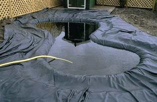 B che bassin pvc 0 5 ou 0 8mm d 39 paisseur jardinet for Bache pvc etang