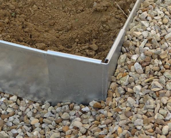 Angle pour bordure en aluminium bordure de jardin jardinet for Bordure de jardin en aluminium