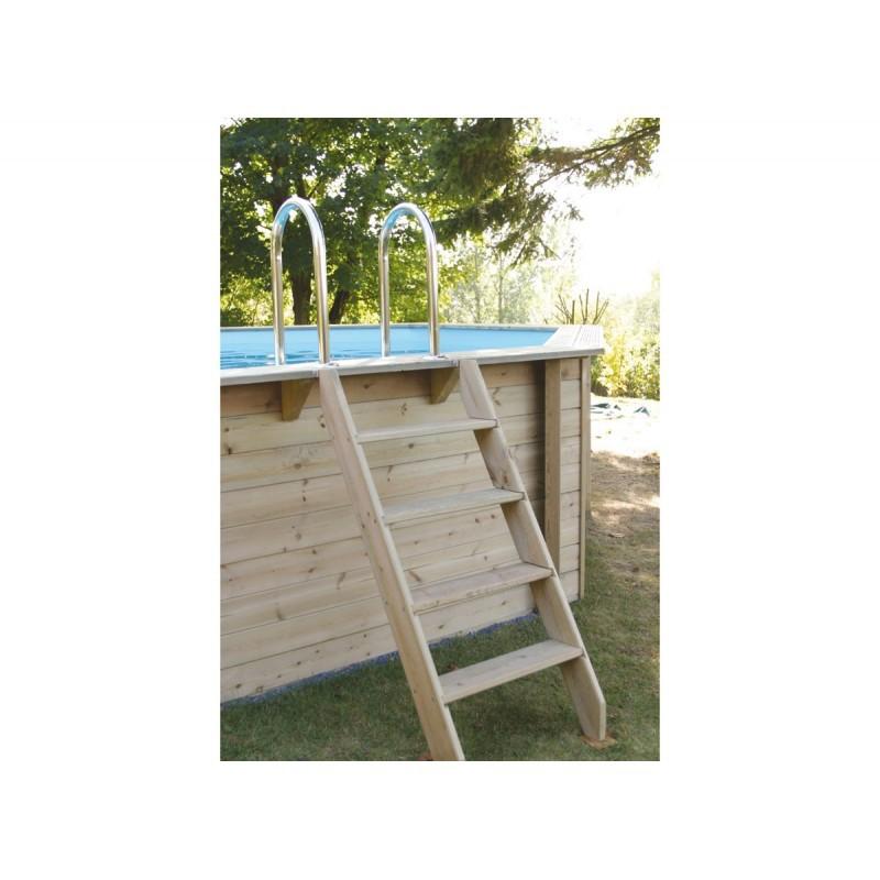Piscine hexagonale azura jardinet for Piscine bois 10m