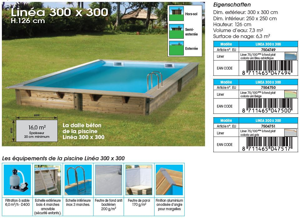 Echelle piscine amovible great piscine horssol lunda en - Echelle piscine escamotable ...