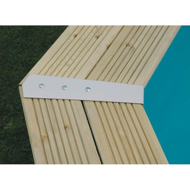 Piscine carr e lin a jardinet for Budget piscine bois
