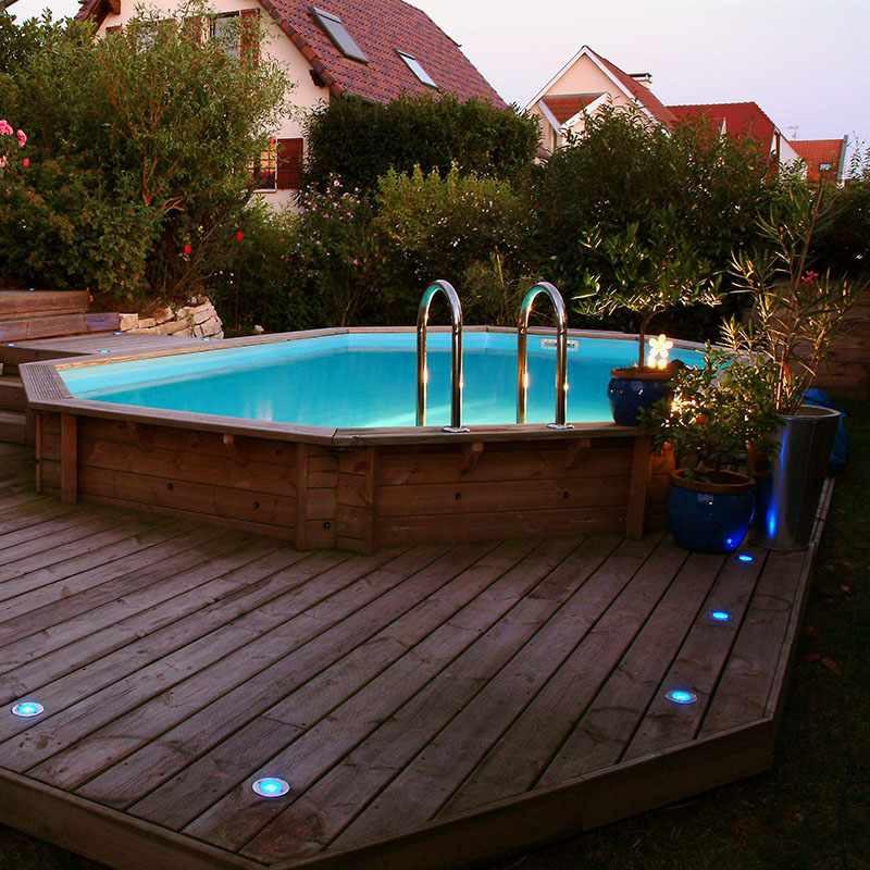 piscine bois octogonale allong e oc a jardinet. Black Bedroom Furniture Sets. Home Design Ideas